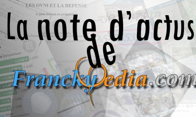 – NOTE D'ACTUALITÉS DU 25 Juillet 2018 – N#12