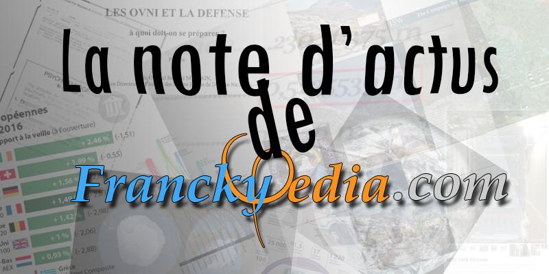– NOTE D'ACTUALITÉS DU 12 AOUT 2017 – N#6
